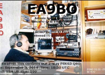 EA9BO - Antonio Garcia -Ceuta España